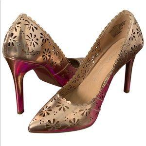 NWOT ✨LC Lauren Conrad rose gold heels